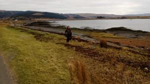 Beach cleaning, Loch Beg, Isle of Mull