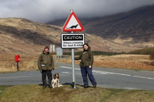 Otter crossing road sign, Kinloch, Isle of Mull