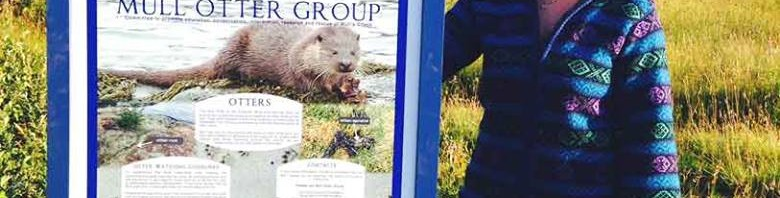 Otter information board, Isle of Mull