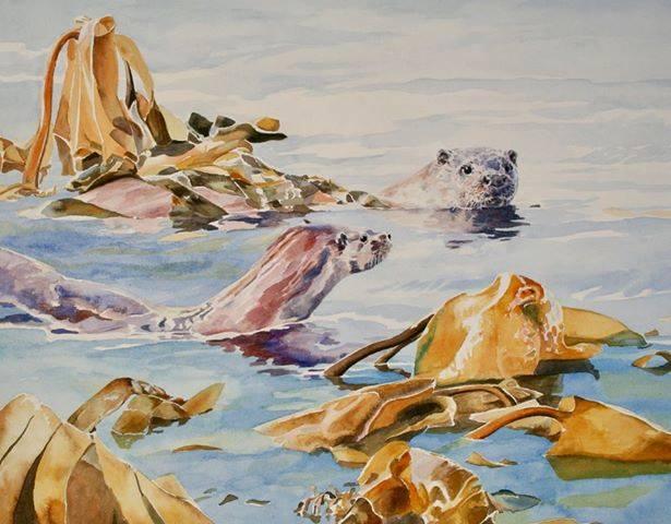 Otter in Kelp